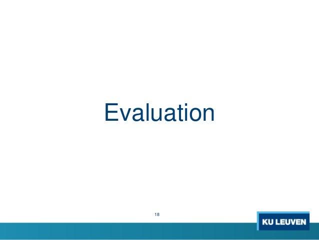 18 Evaluation