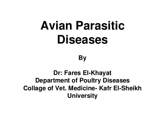 Avian Parasitic Diseases By Dr: Fares El-Khayat Department of Poultry Diseases Collage of Vet. Medicine- Kafr El-Sheikh Un...