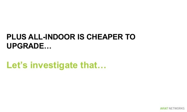 PLUS ALL-INDOOR IS CHEAPER TO UPGRADE… Let's investigate that…