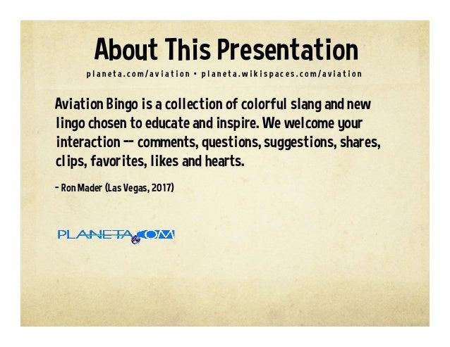 Aviation Buzzword Bingo Slide 2