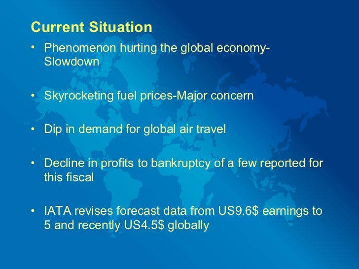 current situation of airline industry Which trends and developments in the airline industry will  in order to be able to understand the current situation of the airline industry and to further.