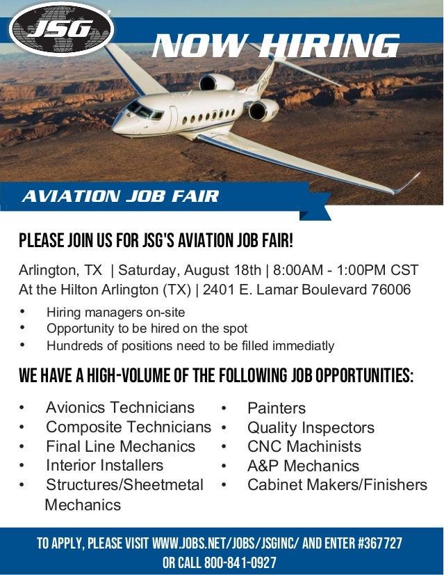 Johnson Service Group Aviation Job Fair - Arlington, TX