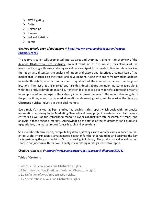 aviation obstruction lights market size share analysis industry de