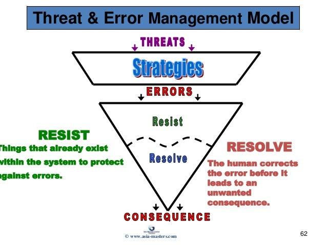 aviation preparatory operations management 62 62 threat error management model