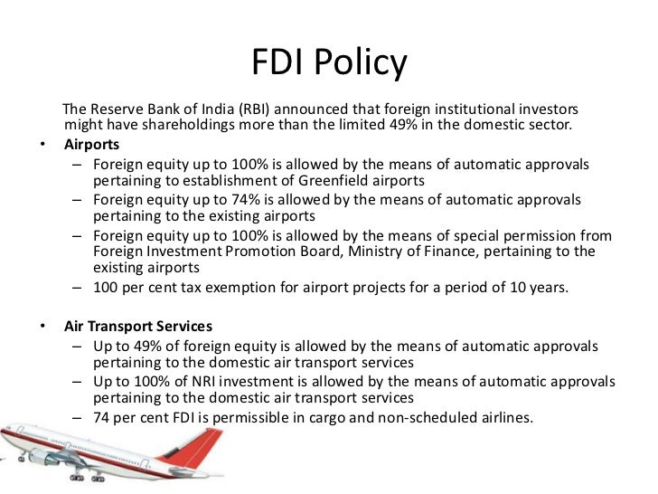 fdi in aviation sector in india pdf