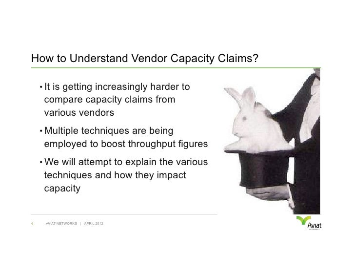 How to Understand Vendor Capacity Claims?    • It is getting increasingly harder to     compare capacity claims from     ...