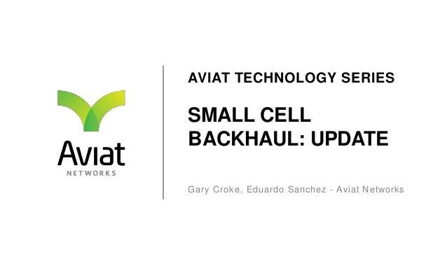 AVIAT TECHNOLOGY SERIES  SMALL CELL BACKHAUL: UPDATE Gary Croke, Eduardo Sanchez - Aviat Networks