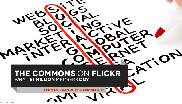 THE COMMONS ON FLICKR                           WHAT 51 million memberS dO?                                     HEKMAN & V...