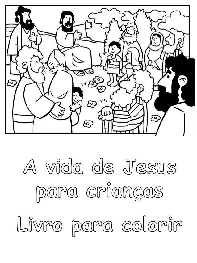 a vida de jesus para crianças livro para colorir