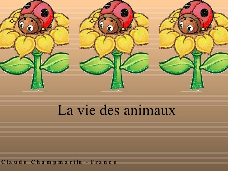 La vie des animaux By Claude Champmartin - France