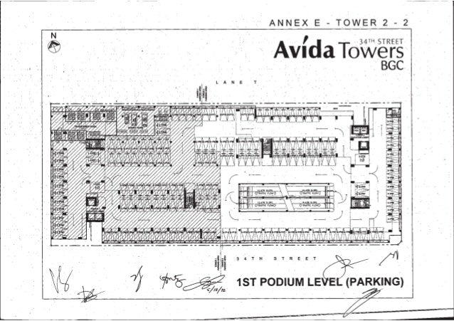 ANNEX E TOWER 2 2     LANE T  PARKING  5 T R E E T3 4. Avida tower 34th t2 parking layouts