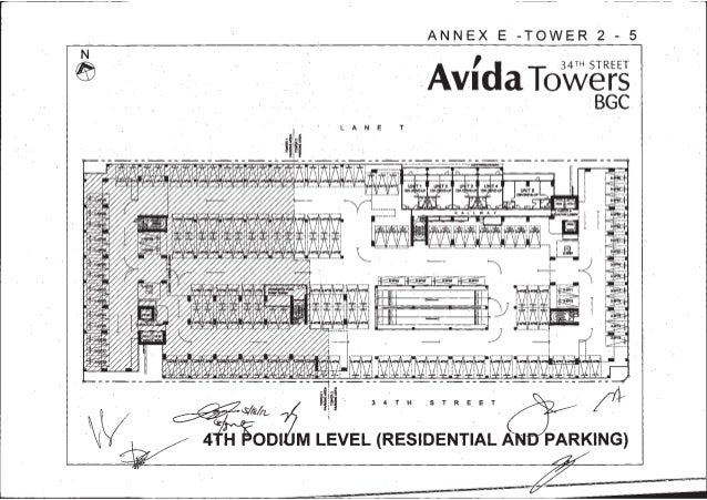4. Avida tower 34th t2 parking layouts