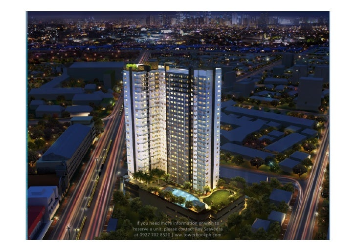 If	  you	  need	  more	  informa.on	  or	  wish	  to	  reserve	  a	  unit,	  please	  contact	  Roy	  Saavedra	   at	  092...