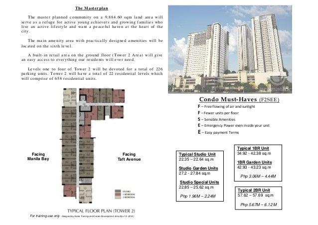 Avida Towers Prime Taft Tower 2 Fact Sheet