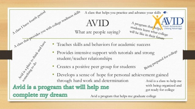 avid essays 2013–2014 avid path training persuasive essay planning see the significance of including writing in the avid class and.