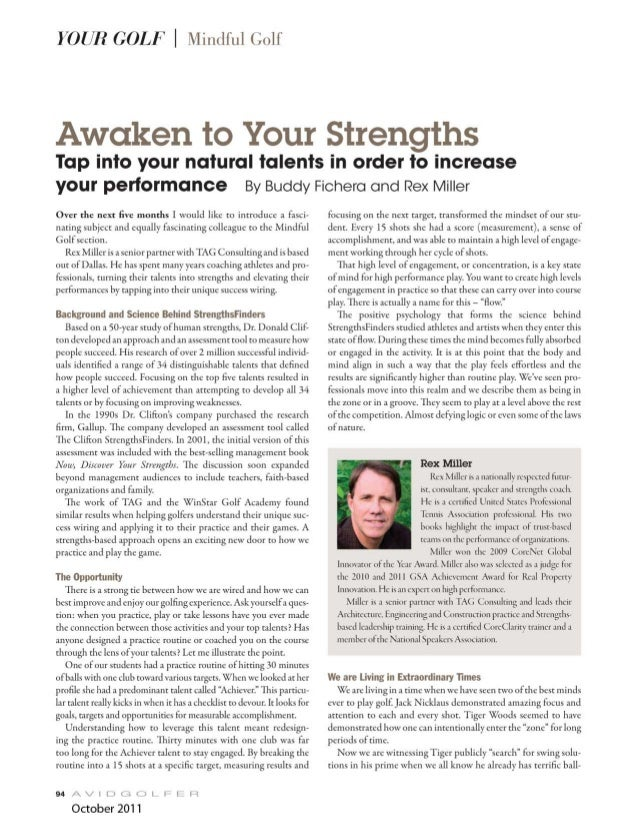 Golf: Awaken Your Talents to Improve Your Game 1 of 5