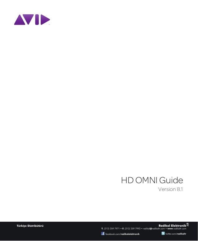 HD OMNI Guide       Version 8.1