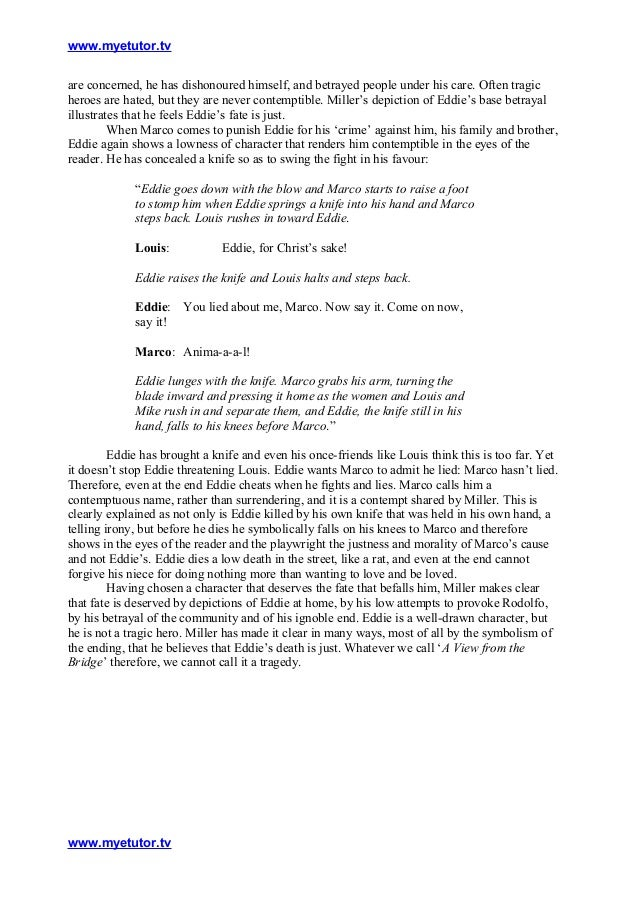 a view from the bridge 27 essay Open document below is an essay on a view from the bridge- relationship between eddie and catherine from anti essays, your source for research papers, essays, and.