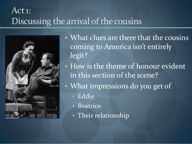 introduction to a view from the bridge essays A view from the bridge here is the link to the youtube playlist to re-watch the play: youtube school play avftb here are some links to some revision sites.