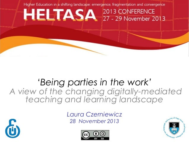 DISAGGREGATION IN TEACHING AND LEARNING 'Being parties in the work'  Aview of the changing digitally-mediated teaching an...