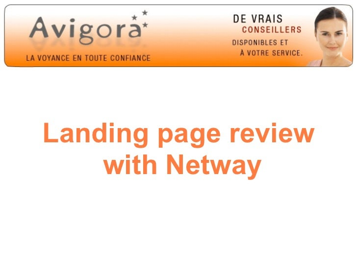 Landing page review    with Netway