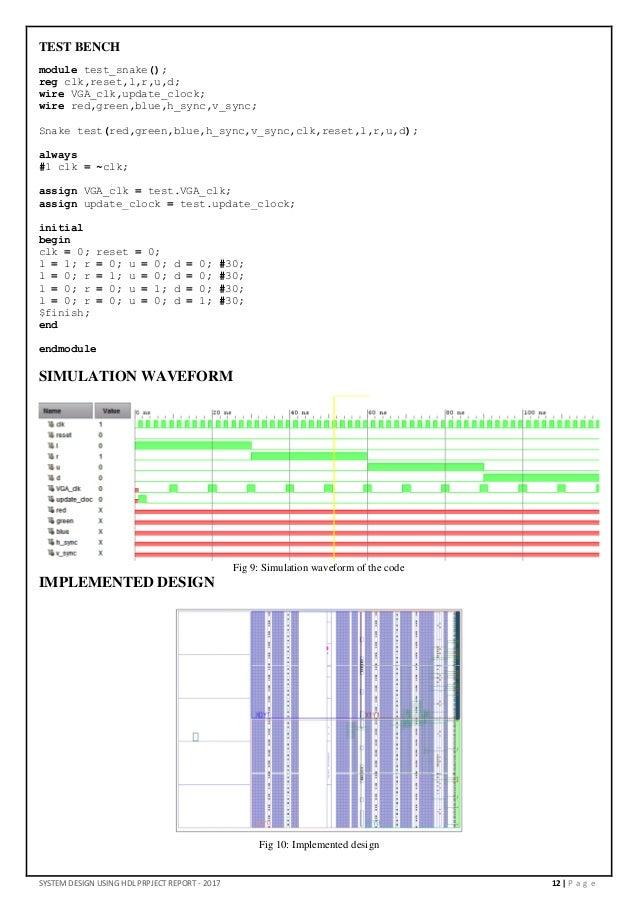 Snake Game on FPGA in Verilog