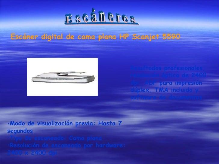 Escáner digital de cama plana HP Scanjet 5590 Resultados profesionales, resolución óptica de 2400 dpi, ADF para impresión ...