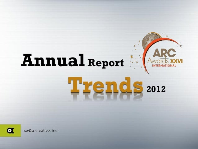 Annual Report     Trends 2012