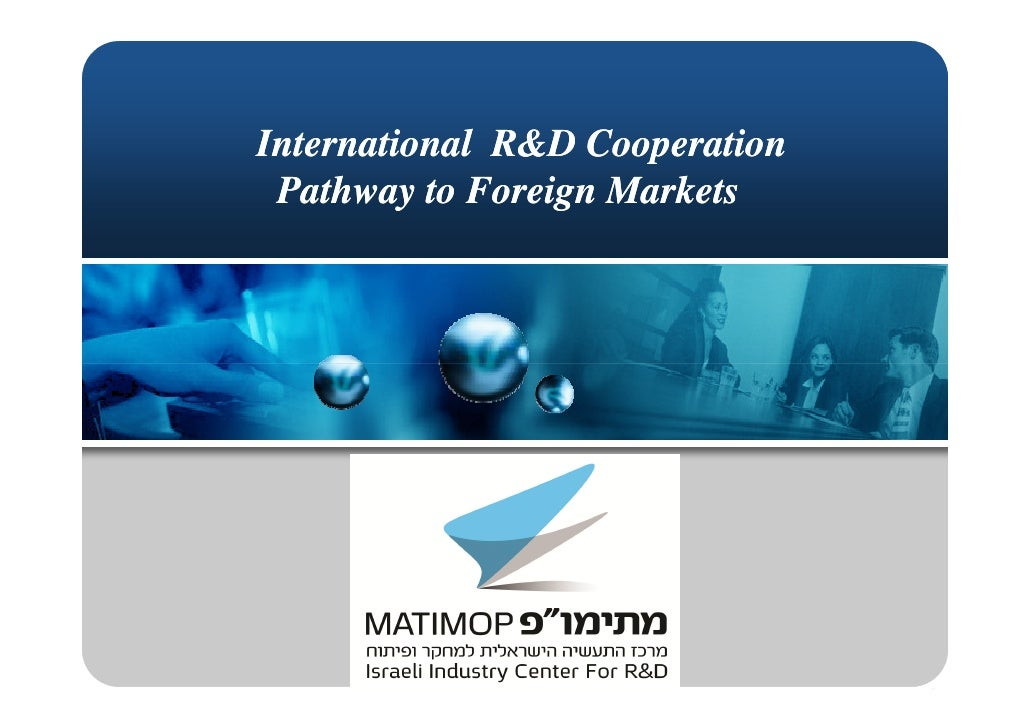 International R&D Cooperation  Pathway to Foreign Markets