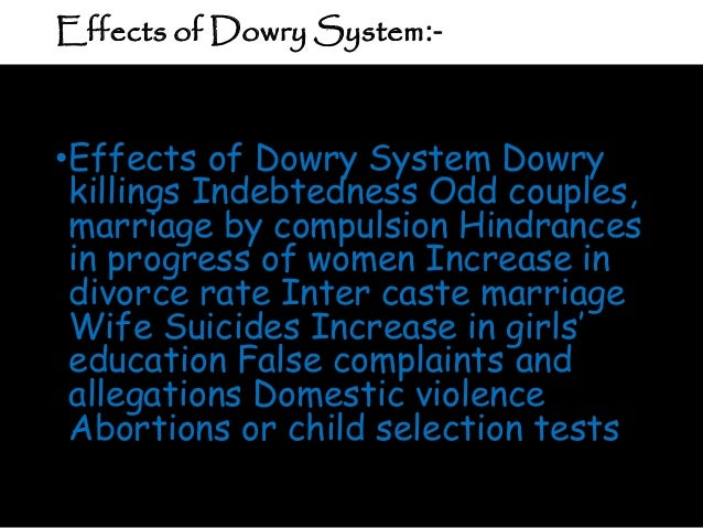 advantages dowry system essays