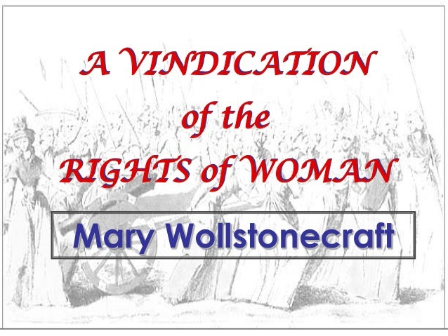vindication of the rights of woman pdf