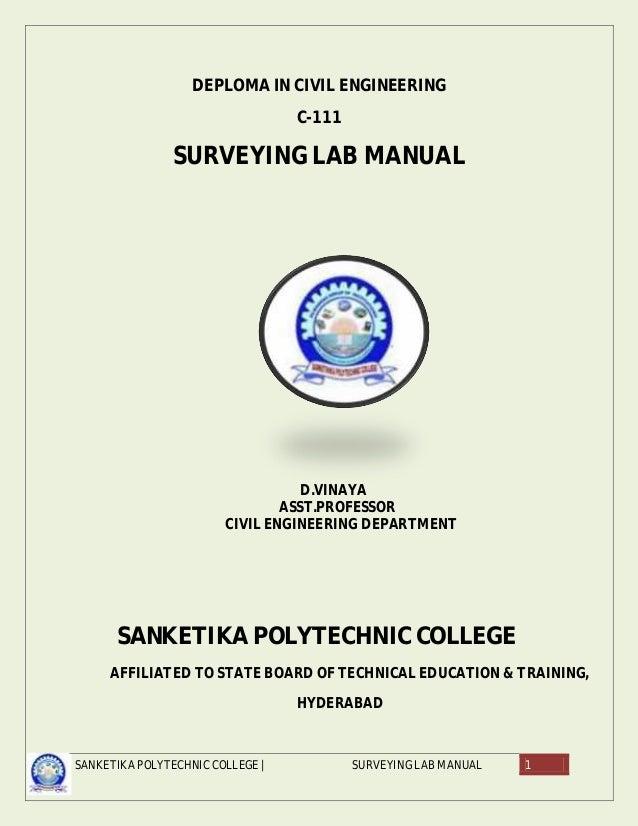 avinesh surveying lab manuals rh slideshare net surveying lab manual 3rd sem surveying lab manual 3rd sem