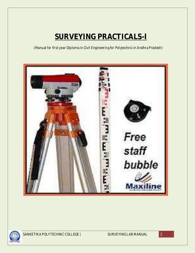 Ce2259 survey practical-ii lab manual. Pdf   surveying.