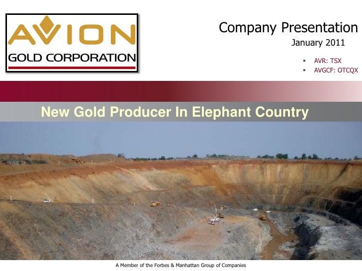 Company Presentation                                                                  January 2011                        ...