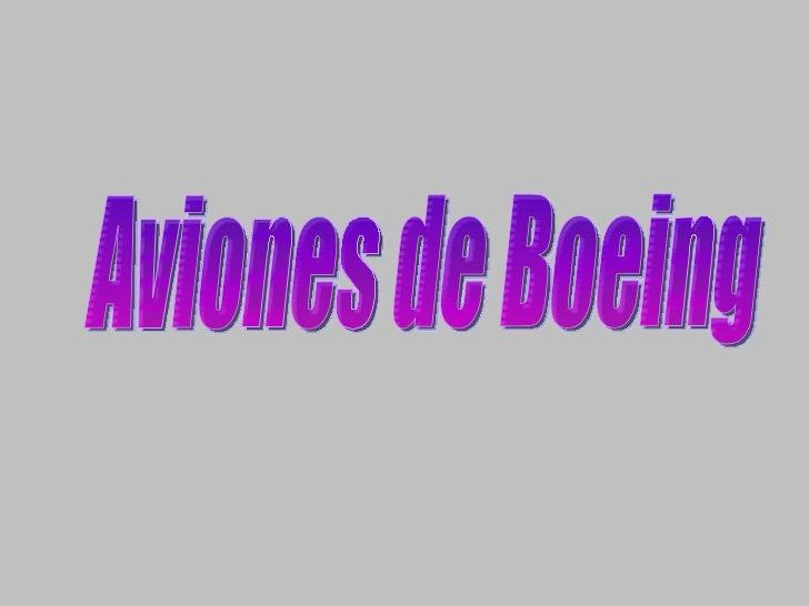Aviones de Boeing