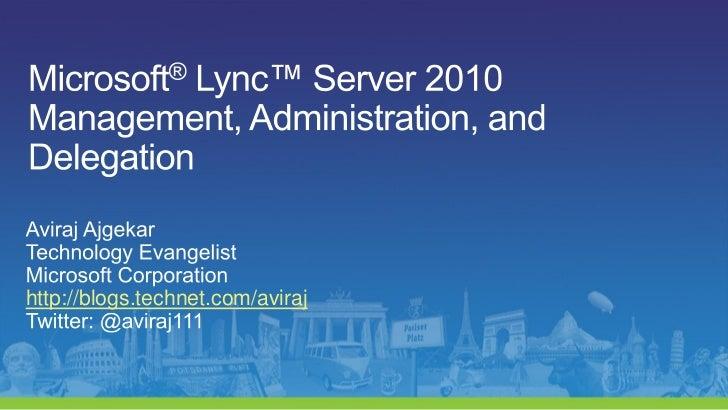 http://blogs.technet.com/aviraj