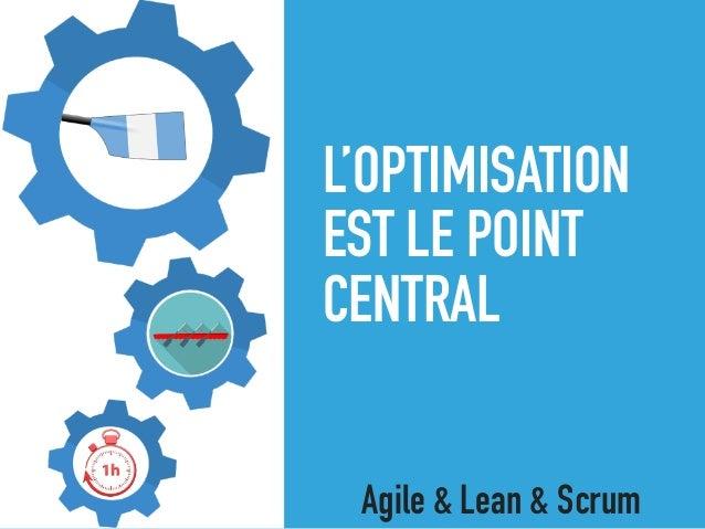 L'OPTIMISATION EST LE POINT CENTRAL Agile & Lean & Scrum