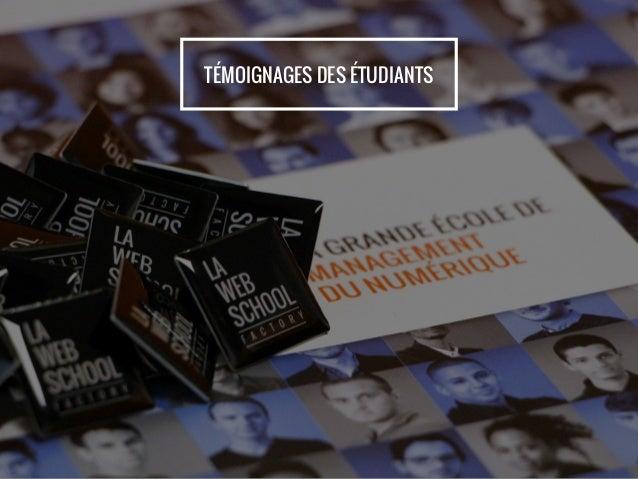 TÉMOIGNAGES DES ÉTUDIANTS