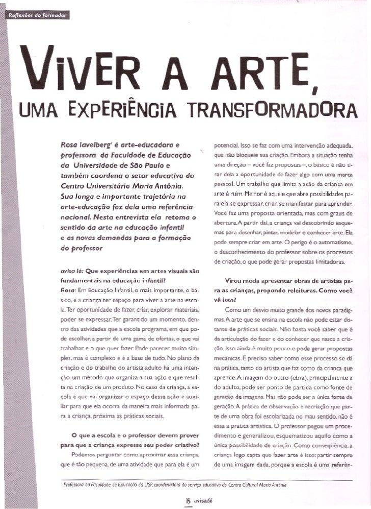 Avisa 17 Viver A Arte Uma Experiencia Transformadora