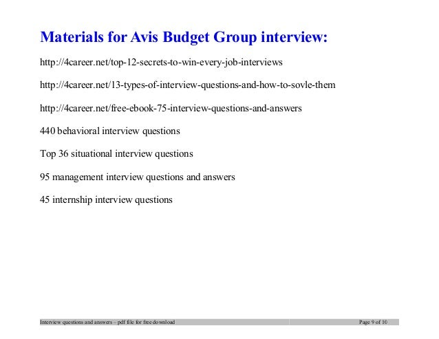 interview questions and answers pdf file for free download page 8 of 13 9
