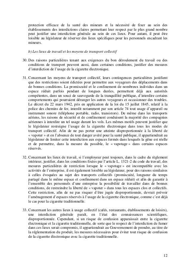 protection efficace de la santé des mineurs et la nécessité de fixer au sein des établissements des interdictions claires ...