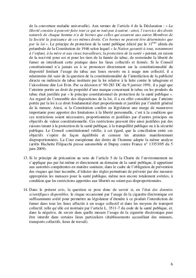de la couverture maladie universelle). Aux termes de l'article 4 de la Déclaration : « La liberté consiste à pouvoir faire...