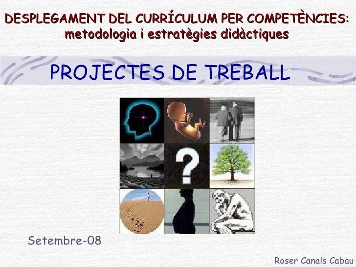 DESPLEGAMENT DEL CURRÍCULUM PER COMPETÈNCIES:  metodologia i estratègies didàctiques Setembre-08 PROJECTES DE TREBALL Rose...
