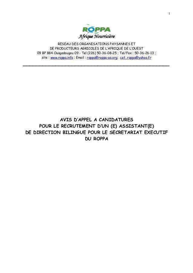 1 Afrique NourricièreAfrique NourricièreAfrique NourricièreAfrique Nourricière RESEAU DES ORGANISATIONS PAYSANNES ET DE PR...
