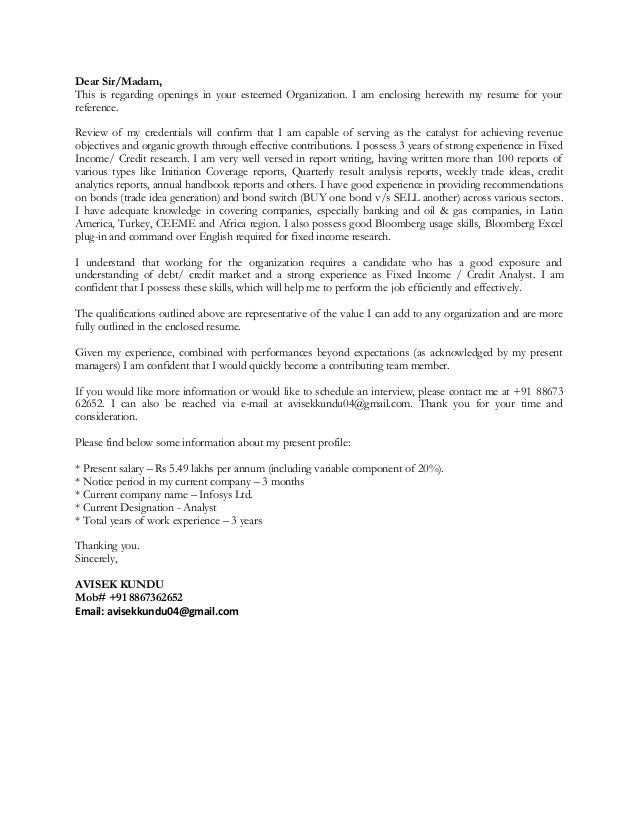 Bloomberg Cover Letter