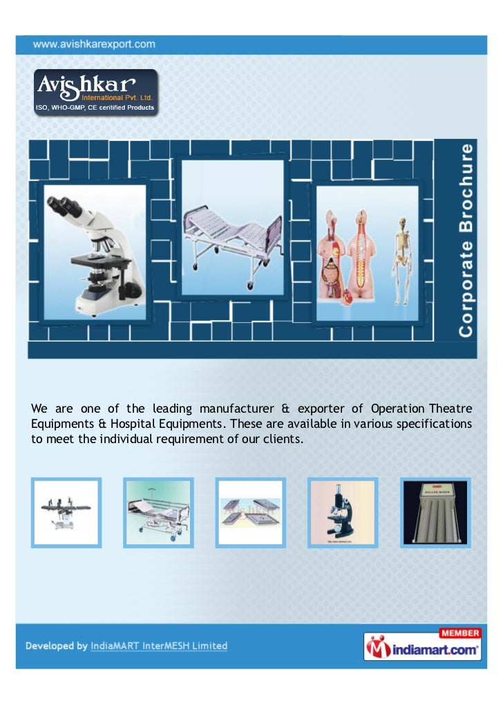 We are one of the leading manufacturer & exporter of Operation TheatreEquipments & Hospital Equipments. These are availabl...