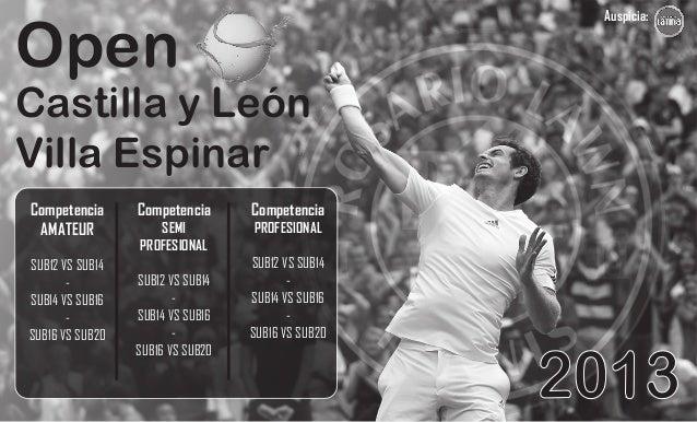 Auspicia:  Open  Castilla y León Villa Espinar Competencia AMATEUR SUB12 VS SUB14 SUB14 VS SUB16 SUB16 VS SUB20  Competenc...