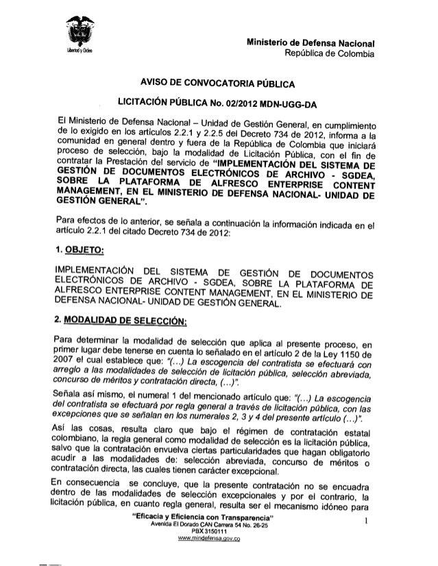 Ministerio de Defensa Nacional                                                                       Republica de Colombia...