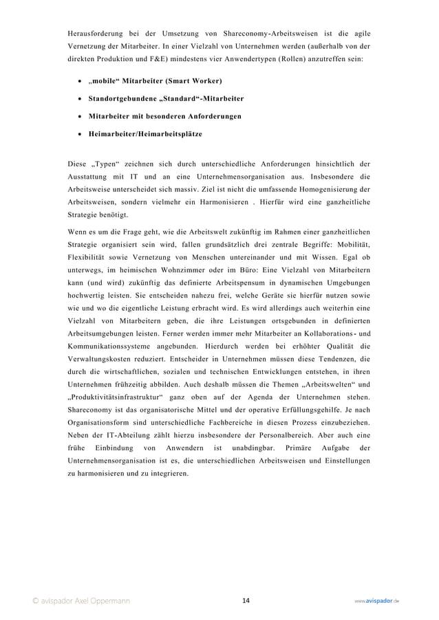 Herausforderung bei der Umsetzung von Shareconomy -Arbeitsweisen ist die agileVernetzung der Mitarbeiter. In einer Vielzah...