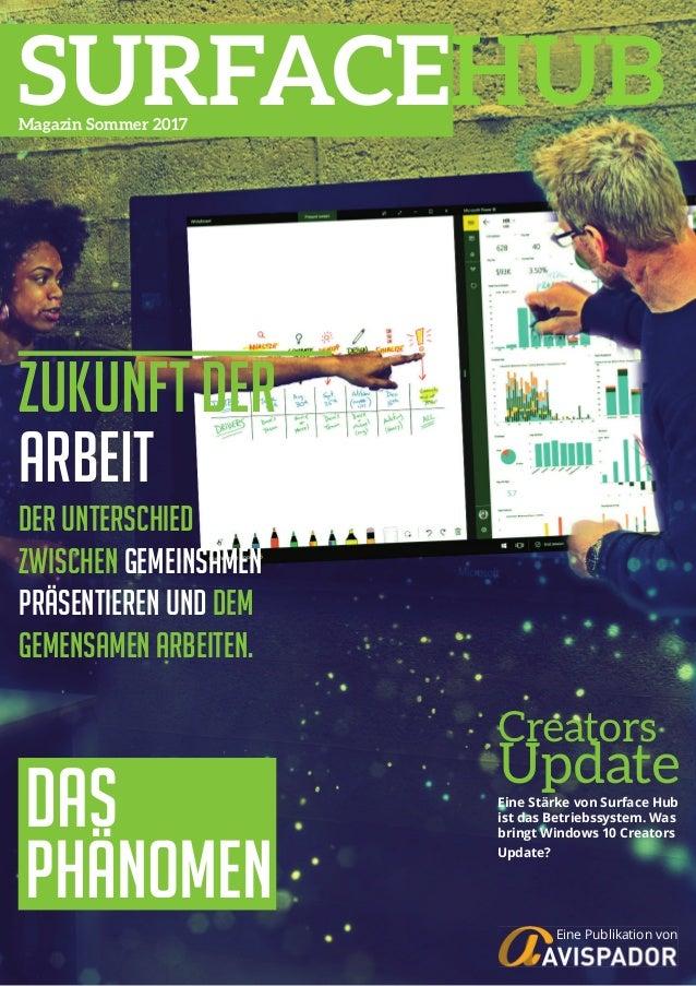 1Surface Hub Whitepaper© Avispador 2017 Creators Update Zukunft der Arbeit Der Unterschied zwischen Gemeinsamen präsentier...